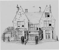 Insole Court 1850s, drawn by Nevil James